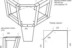 Чертеж углового блока кухонного дивана