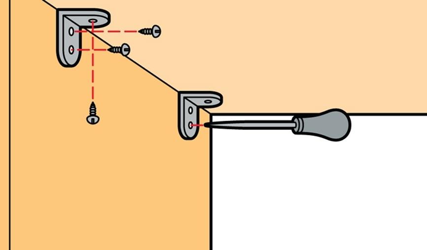 Схема установки крепежей и