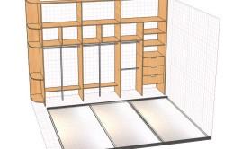 Схема проекта гардероба с учетом общих требований