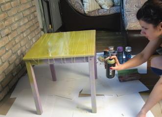 Обновить старый стол своими руками
