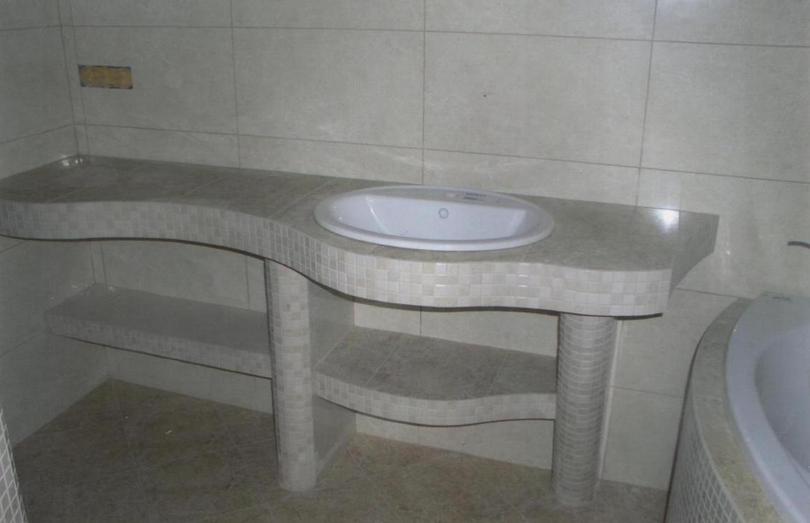 Столешницу в ванную своими руками