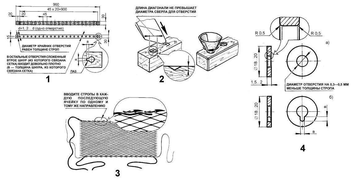 Этапы изготовления гамака