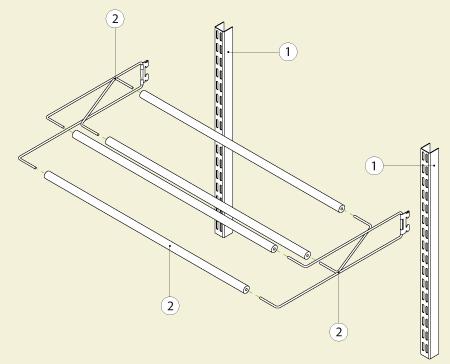 Схема установки обувной полки