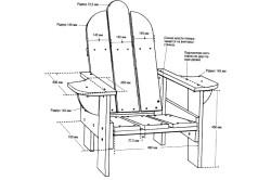 Схема раскладного кресла