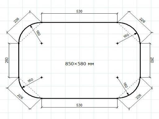 Схема раздвижного стола с