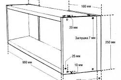 Схема размеров навесной полки