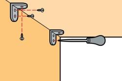 Схема установки крепежей для крепления полки