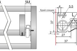 Установочные размеры роликовых направляющих