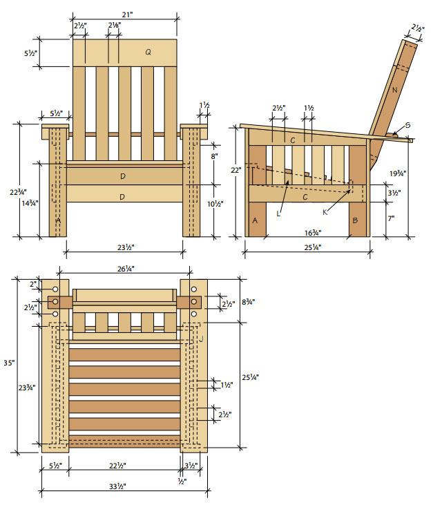 Как сделать стул кресло из дерева своими руками чертежи 44