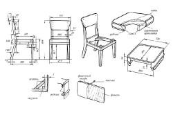 Чертеж для изготовления стула своими руками