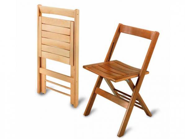 Самодельный стул в складном и раскладном виде