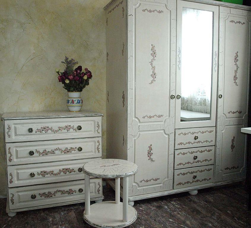 Декупаж советской мебели из дсп