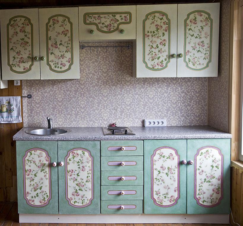 Декупаж кухонной мебели своими руками фото
