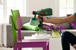 Покраска мебели с помощью краскопульта