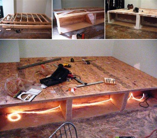 Как сделать кровать с подиумом своими руками