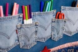 Кармашки из джинсовой ткани