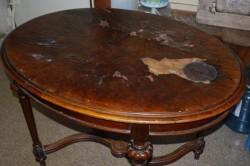 Старое покрытие стола