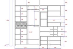 Проект шкафа из гипсокартона с размерами