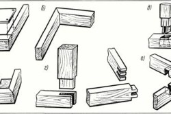 Схема соединения деревянных деталей