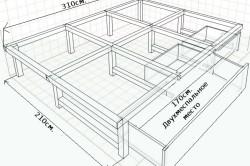 Подиум кровать своими руками чертеж