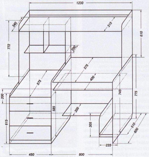 компьютерный стол инструкция