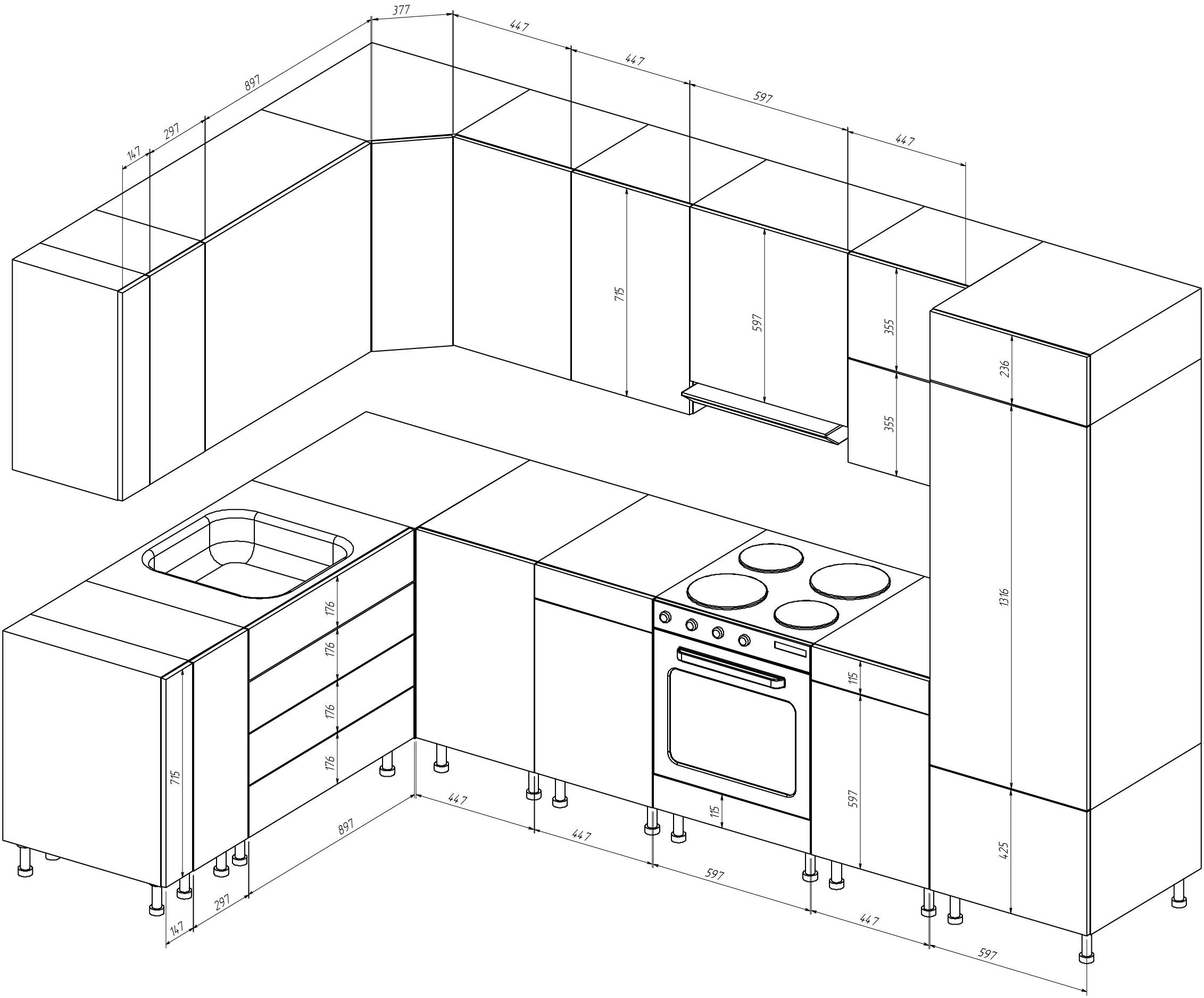 Кухонные шкафы своими руками чертежи и схемы