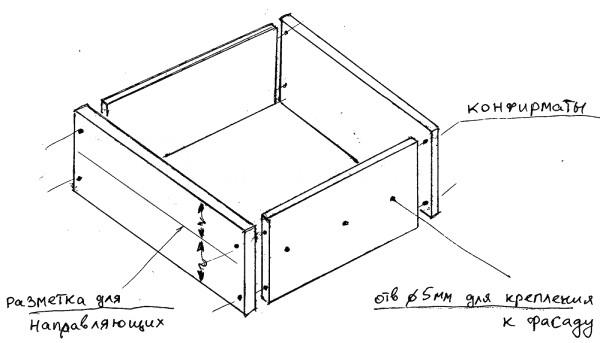 Как сделать комод своими руками с чертежами