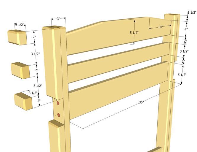 Схема сборки спинки деревянной