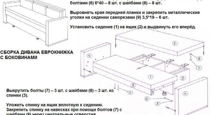 Инструкция По Сборке Дивана Еврокнижка - фото 4