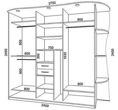 Схема шкаф-купе