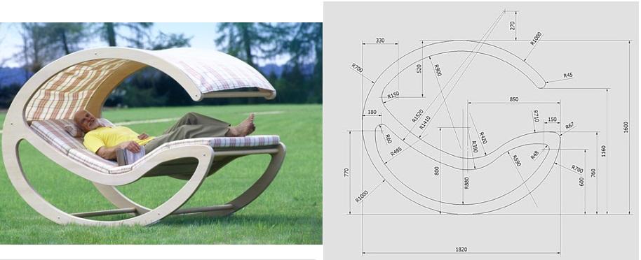 Сделать кресло качалку своими руками из фанеры схема