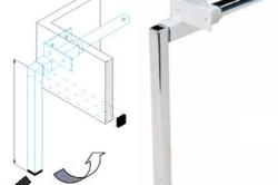 Поворотные ножки для шкафа кровати трансформера