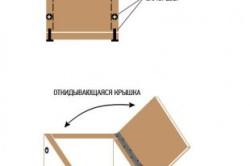 Схема сборки пуфика с откидывающейся крышкой