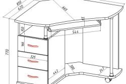 Схема сборки письменного стола фото 645