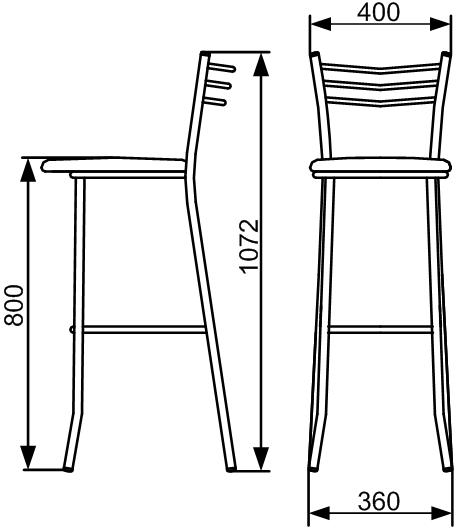 Барный стул своими руками из металла чертежи