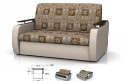 Фото и размеры дивана аккордеона