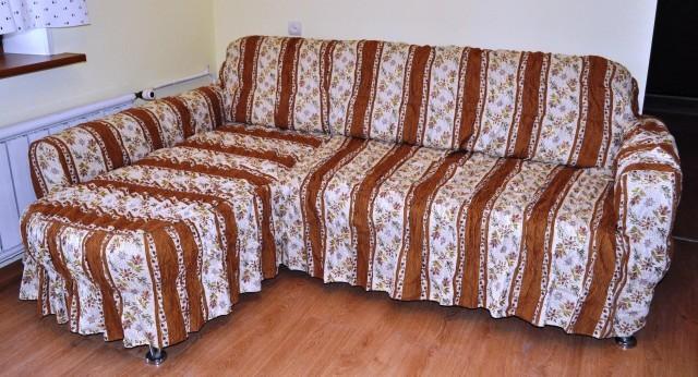 Как сшит накидку на угловой диван своими руками 141
